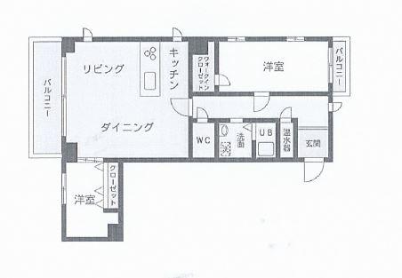 芦屋市松ノ内町 中古マンション間取画像